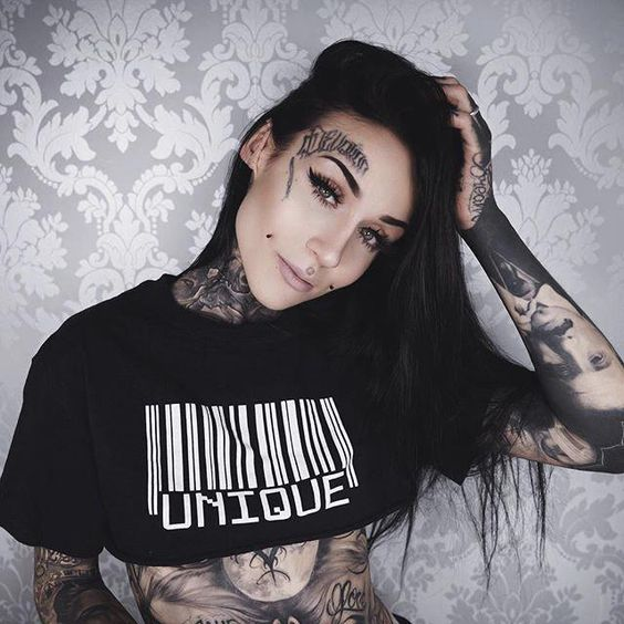 face tattoos for women
