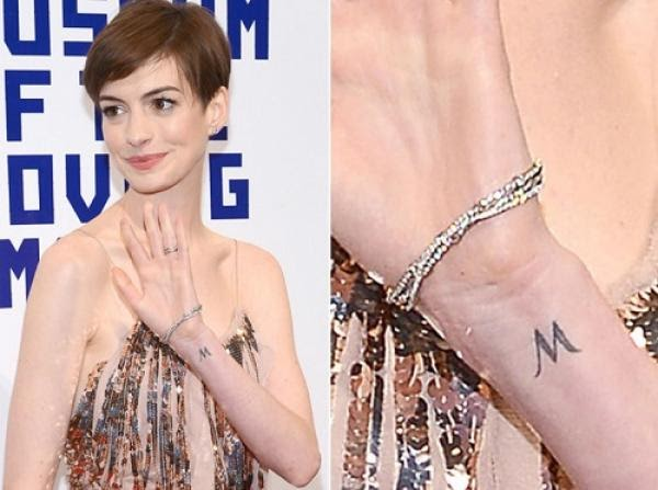Anne Hathaway Tattoo on wrist