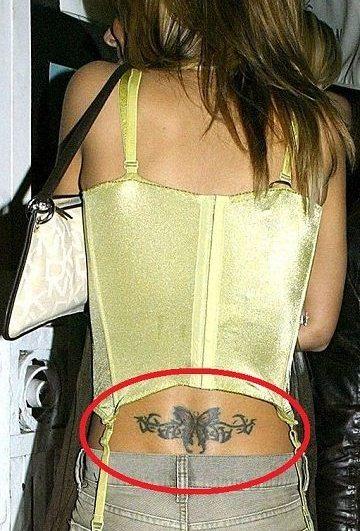 Cheryl Cole Lower Back Tattoo