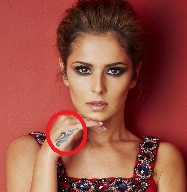 Cheryl Cole Tattoo on Hand