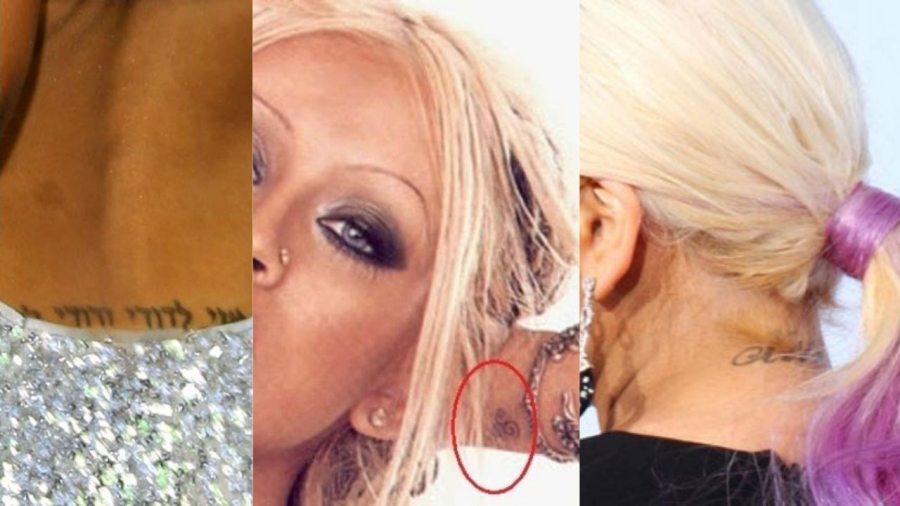 Christina Aguilera Tattoos Feature Image