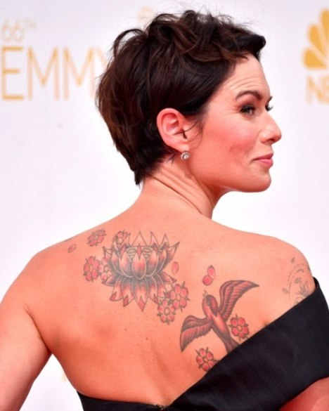 Lena Headey Lotus Tattoo
