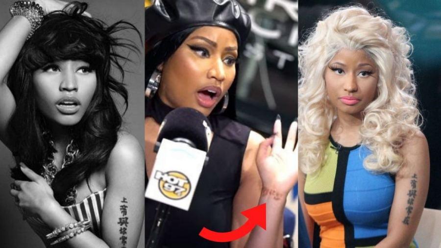 Nicki Minaj Tattoos Thumbnail