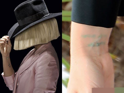 Sia Furler Right Wrist Tattoo