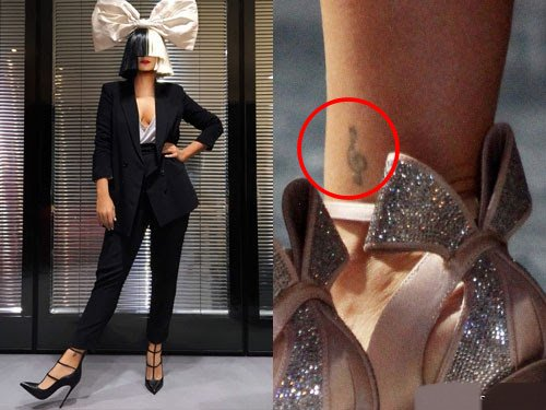 Sia Right Ankle Tattoo