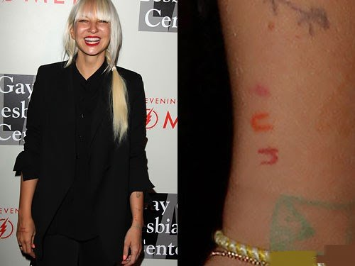 Sia Left Wrist Tattoo