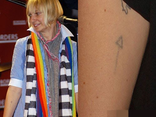 Sia Furler Right Forearm Tattoo