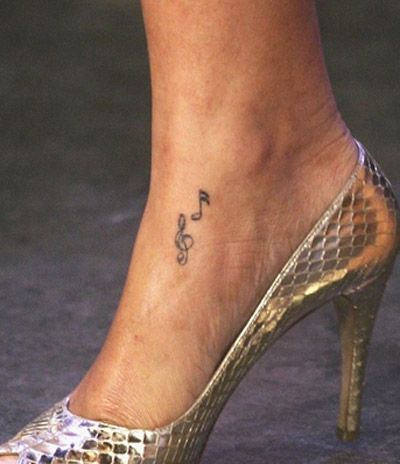 Music Notes on Her Foot