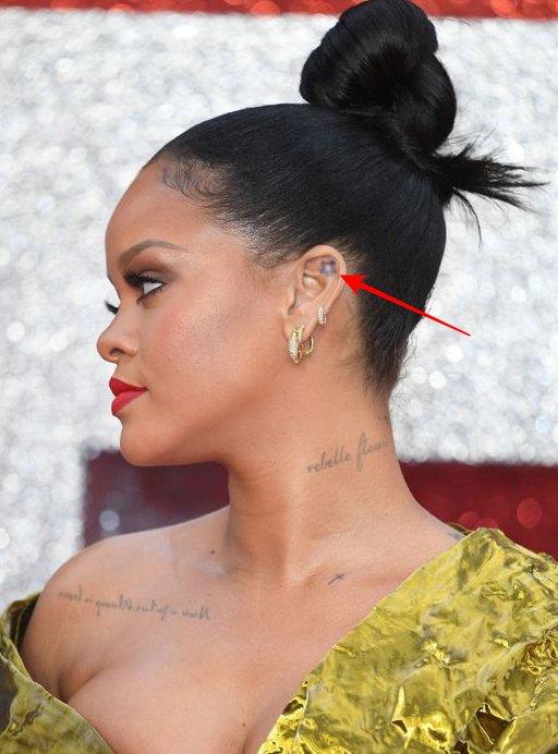Star inside her ear